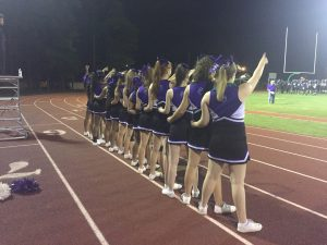 Woodlawn Cheerleaders cheer the Panthers to victory.
