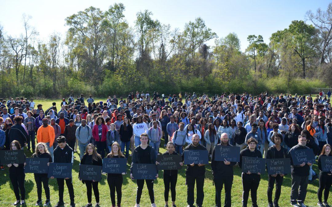 Woodlawn Hosts Walkout for Parkland Seventeen and Gun Awareness